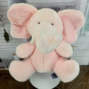 Elephant Plush Pink Baby Rattle Soft Russ Lovey